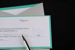 Réaction d'invitation Photographie stock