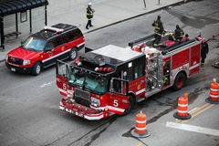 Réaction de camion de pompiers - Chicago, l'Illinois Photo libre de droits