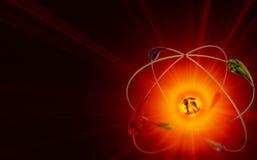 Réactions nucléaires de fusion froide illustration de vecteur