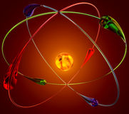Réactions nucléaires de fusion froide illustration libre de droits
