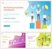 Réalisation de l'excellence d'affaires, qualifications essentielles illustration de vecteur