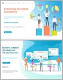 Réalisation de l'excellence d'affaires, solution d'affaires illustration stock