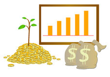 Réalisez l'investissement d'argent Image stock