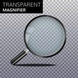 Réalistes transparents magnifient le vecteur en verre illustration libre de droits