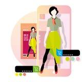 Réalité augmentée dans le commerce électronique Photos libres de droits