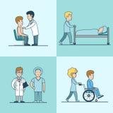 Réanimation plate linéaire de traitement médical illustration libre de droits