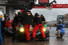 Réapprovisionnement en combustible de Haribo Porsche. Photos libres de droits