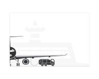 Réapprovisionnement en combustible de l'avion Images stock