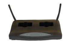 Récepteur et chargeur pour le microphone sans fil Images stock