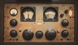 Récepteur militaire de communications ou style de grunge de panneau de commande de communication par radio Images libres de droits