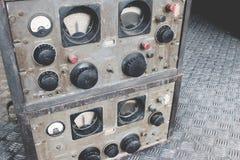 Récepteur militaire de communications ou style de grunge de panneau de commande de communication par radio Image libre de droits