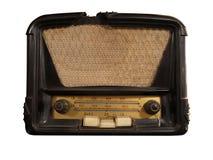 Récepteur radioélectrique brun de vintage vieux d'isolement Photographie stock libre de droits