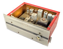 récepteur radioélectrique de VHF FM des années 1960 Photos stock