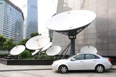 Récepteur satellite Photographie stock libre de droits