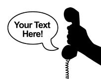 Récepteur téléphonique disponible Photos libres de droits