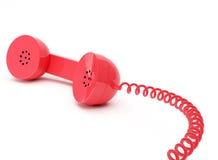 Récepteur téléphonique rouge Images libres de droits