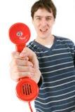 Récepteur téléphonique rouge Photo libre de droits