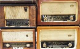 Récepteurs radioélectriques de vintage, tuners Image libre de droits