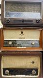 Récepteurs radioélectriques de vintage, tuners Images libres de droits
