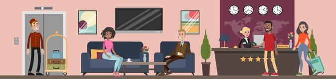 Réception à l'hôtel illustration libre de droits