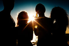 Réception à la plage Photo stock