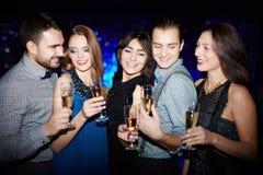 Réception avec le champagne Photographie stock