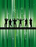 Réception avec le fond vert illustration de vecteur