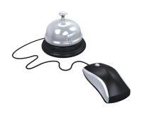 Réception Bell et souris d'ordinateur Photographie stock libre de droits
