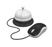 Réception Bell et souris d'ordinateur Images libres de droits