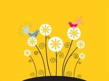réception birdy illustration stock