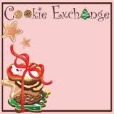Réception d'échange de biscuit illustration libre de droits