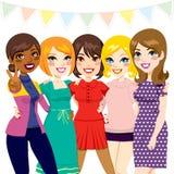 Réception d'amies de femmes illustration libre de droits