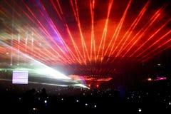 Réception d'exposition de laser Images stock