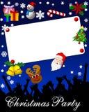 réception d'invitation de Noël Images stock