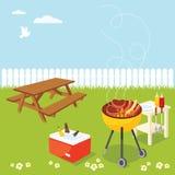 Réception de BBQ Images stock