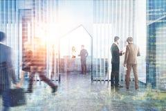 Réception de bureau avec les nuances en bois, doubles Image libre de droits