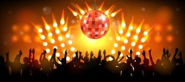 Réception de club avec des gens de danse Image libre de droits