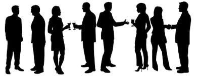 Réception de cocktail illustration de vecteur