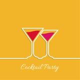 Réception de cocktail Photographie stock