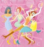 Réception de filles illustration libre de droits