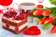 Réception de jour du `s de Valentine Image libre de droits