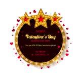Réception de jour du `s de Valentine illustration libre de droits