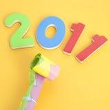 Réception de l'an 2011 neuf Images stock