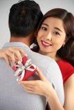 Réception de la plupart de cadeau romantique Photos stock