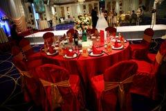 Réception de mariage en Chine Image stock