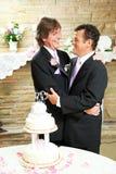 Réception de mariage pour les couples gais Photo libre de droits