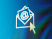 Réception de message électronique. Photos libres de droits
