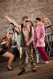 réception de musique de disco des années 70 Photos libres de droits