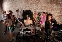 réception de musique de disco des années 70 Images libres de droits