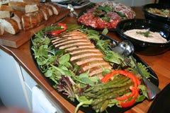 réception de nourriture savoureuse Photographie stock libre de droits